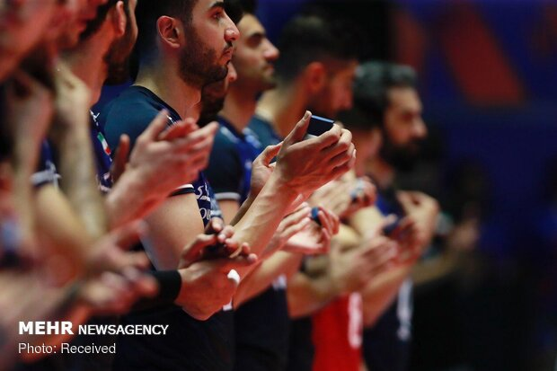 Iran vs France at 2019 men's VNL