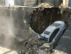 سقوط ماشین به گودبرداری ساختمان در وردآورد/فوت یک نفر زیر آوار