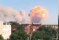 انفجار در انبار مهمات ارتش قزاقستان/۱۰ نفر زخمی شدند