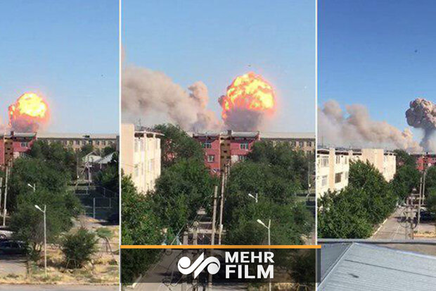 VIDEO: Massive blast hits military depot in Kazakhstan