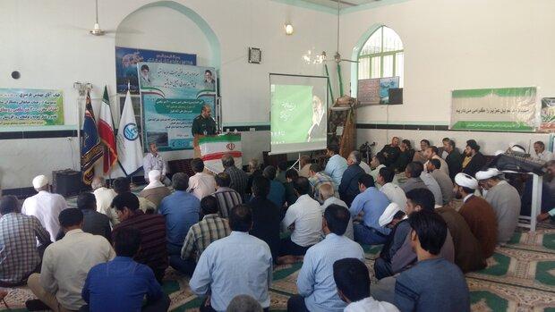 قرارگاه آبادانی سپاه ۱۹ پروژه عمرانی در علی آبادکتول اجرا می کند