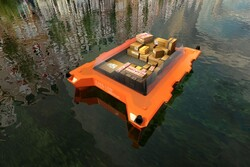 قایق رباتیکی که به جمع آوری زباله کمک می کند