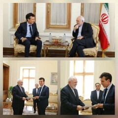 New Italian envoy to Tehran visits FM Zarif
