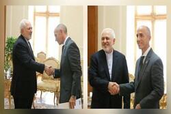 New UNDP representative in Iran Claudio Providas meets with Zarif