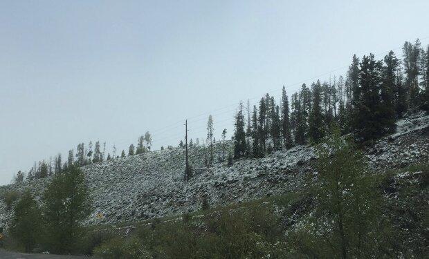 بارش برف تابستانی در یکی از ایالتهای آمریکا!