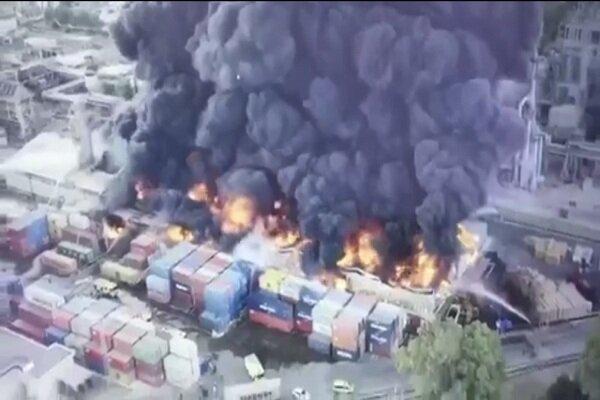 انفجاری مهیب در یک پالایشگاه نفت در اسپانیا