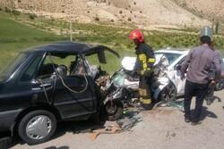 تصادف رخ به رخ پراید و هیوندا در محور تاش-شاهرود ۲ فوتی داشت
