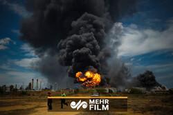 İspanya'daki rafineri patlamasından görüntüler