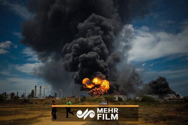 فیلمی از پالایشگاه منفجر شده اسپانیا