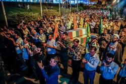 دفاع مقدس کے 150 شہیدوں کے پیکروں سے عوام کا وداع