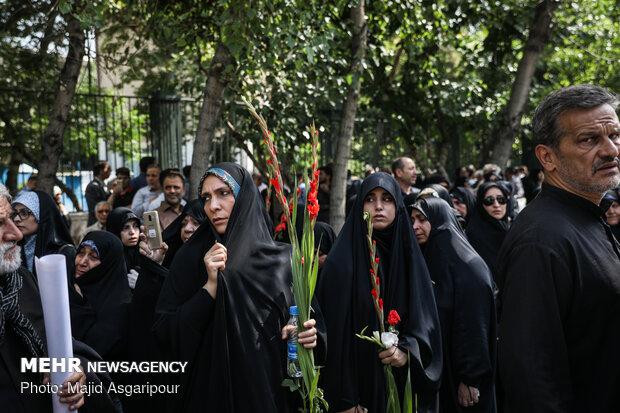 مراسم تشییع پیکرهای مطهر ۱۵۰ شهید تازه تفحص شده دفاع مقدس
