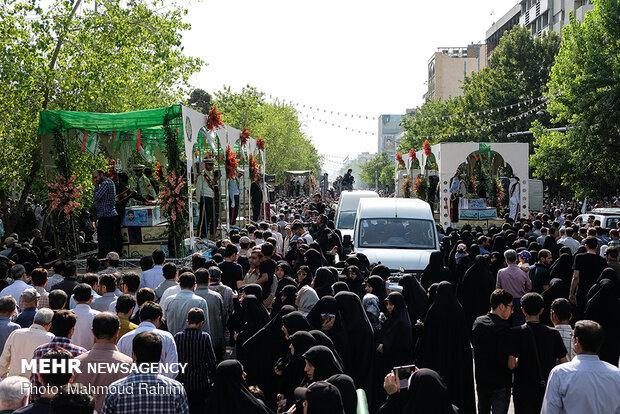 مراسم تشییع پیکرهای مطهر ۱۵۰ شهید تازه تفحص شده دفاع مقدس(۲)