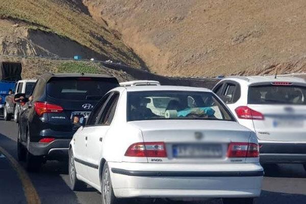 فیلم ترافیک سنگین در ورودی شهر مهران