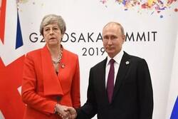 دیدار سرد سران انگلیس و روسیه/ آخرین درخواست ترزا می از پوتین