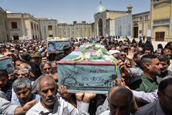 شیراز میں 8 شہیدوں کی تشییع جنازہ