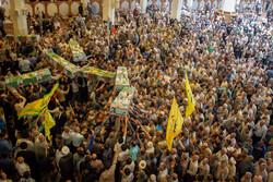 مراسم تشییع پیکر مطهر ۱۰ شهید در شیراز