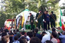 پیکر شهید «ثامنی راد» در ورامین تشییع شد