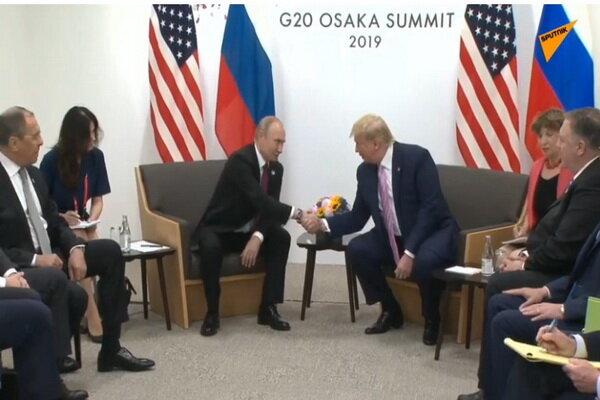 روسی صدر اورامریکی صدر ٹرمپ کی باہمی ملاقات
