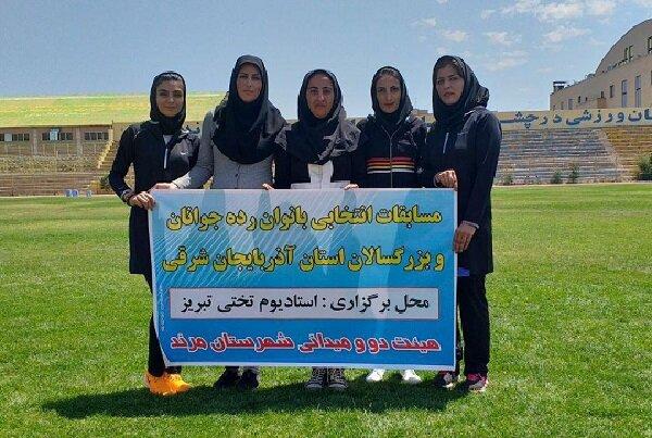 موفقیت بانوان دونده مرندی در مسابقات انتخابی آذربایجان شرقی
