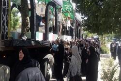 پیکرهای مطهر ۱۰ شهید گمنام دوران دفاع مقدس در فاروج تشییع شد
