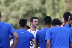 استراماچونی - تمرین تیم فوتبال استقلال