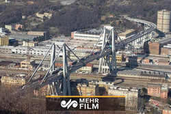 VIDEO: Genoa Bridge destroyed in six second