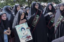 """تشییع ودفن3 شهداء مجهولي الهوية في منطقة """"بيرجند"""""""