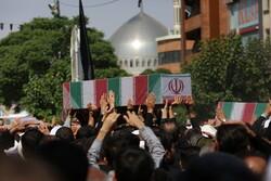 تشییع شهید گمنام در حاشیه نماز جمعه قم