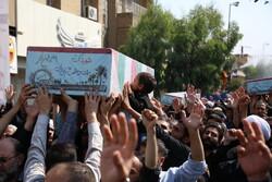 قم میں 7 گمنام شہیدوں کی تشییع جنازہ