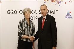 دیدار «اردوغان» و «ترزا می» در حاشیه نشست جی ۲۰