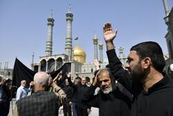 قم میں حضرت امام جعفر صادق(ع) کی شہادت کی مناسبت سے عزاداری