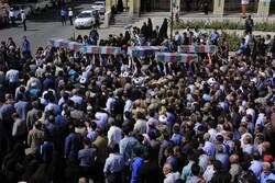 شہر کرد میں دفاع مقدس کے شہیدوں کی تشییع جنازہ