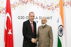 مودی: روابط ما با ترکیه در زمانهای مختلف مورد آزمون قرار میگیرد