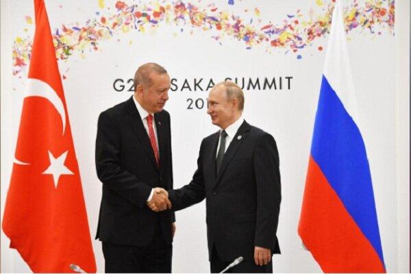 تاکید رؤسای جمهور ترکیه و روسیه بر گسترش روابط