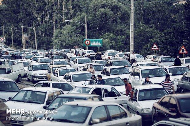 ترافیک در محور گنجنامه