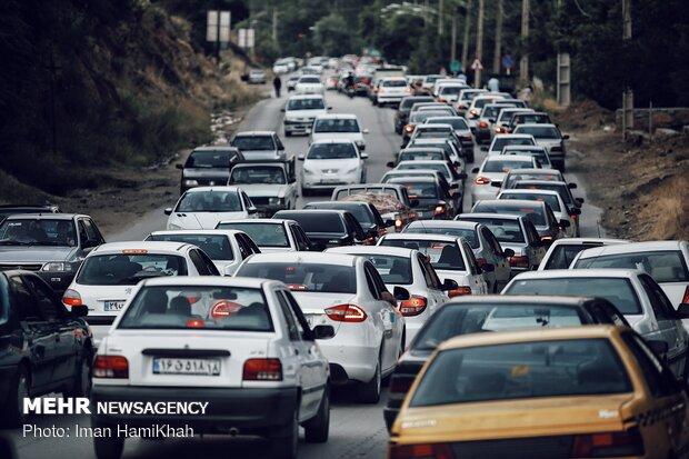 ترافیک سنگین و نیمه سنگین در محورهای شمالی