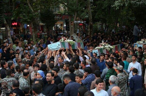 پیکر مطهر شهید مدافع وطن در ساری تشییع شد