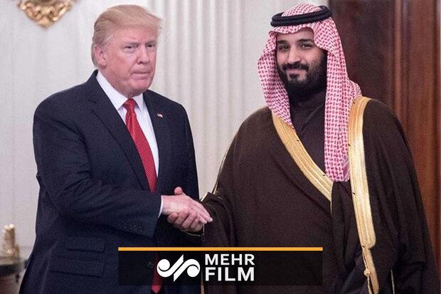 طفره رفتن ترامپ از پاسخ درباره قتل خاشقجی در حضور ولیعهد سعودی