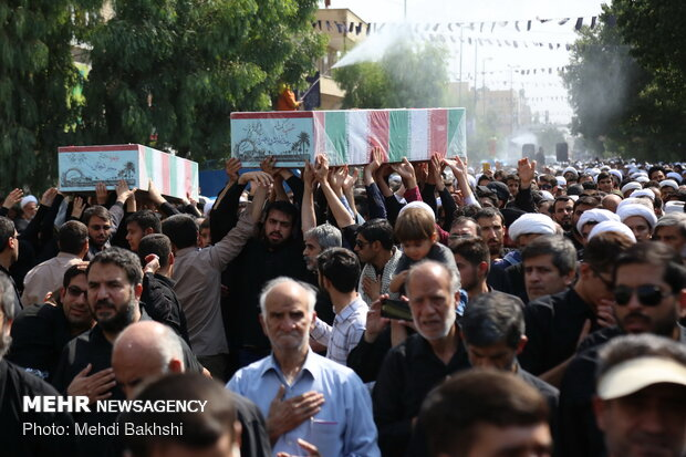 Several anonymous martyrs laid to rest in Qom, Birjand