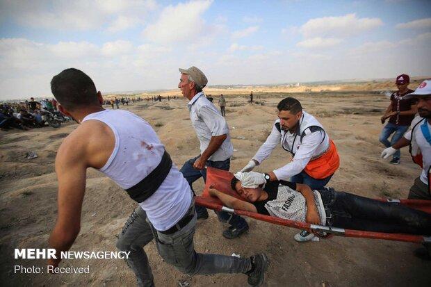 شصتو چهارمین راهپیمایی بازگشت در غزه