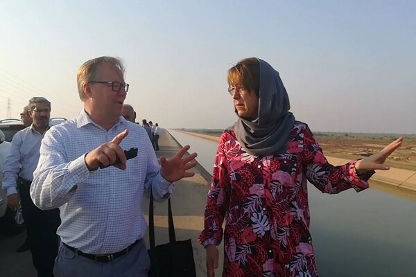 EU environmental experts visit areas prone to dust storms in Khuzestan province