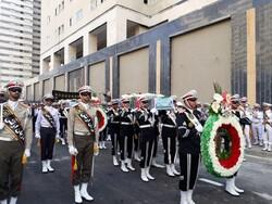 تشييع رفات شهيدين مجهولي الهوية من فترة الحرب المفروضة على ايران