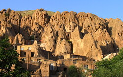 Kandovan village and breathtaking rocky landscape
