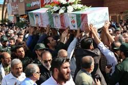 مراسم تشییع پیکر ۳شهید در سمنان برگزار شد