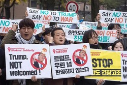 VIDEO: Anti-Trump protests in South Korea