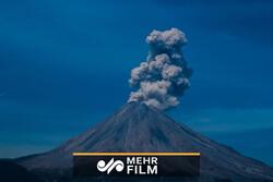 فیلمی از فوران آتشفشان در پرو