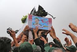 ورود پیکر مطهر شهید مدافع حرم علی آقایی به زادگاهش