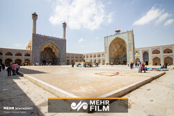 PHOTOCLIP: Jameh Mosque of Isfahan, oldest historical complex of Iran