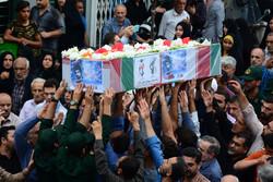 مراسم تشییع پیکر شهید «حسین رستمی» در رودسر