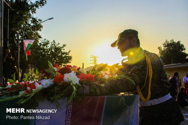 مراسم تشییع شهدای دفاع مقدس در شهرکرد